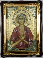 Мария Египетская, в фигурном киоте, с багетом. Храмовая икона (60 Х 80)