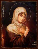 Анастасия, Св.Мч., икона под старину JERUSALEM прямая (13 Х 17)