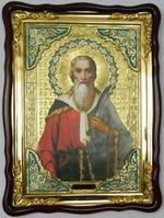 Пророк Илья (нож), в фигурном киоте, с багетом. Храмовая икона (60 Х 80)