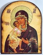 Феодоровская Б.М., икона под старину JERUSALEM, арка (13 Х 17)