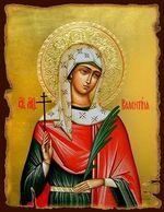 Валентина Св. Мч., икона под старину JERUSALEM панорамная, с клиньями (13 Х 17)