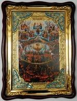 Страшный суд, в фигурном киоте, с багетом. Храмовая икона (60 Х 80)