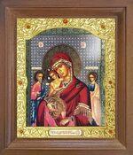 Трех Радостей Б.М. Икона в деревянной рамке с окладом (Д-26псо-157)
