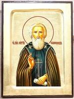 Сергий Радонежский (пояс), икона Греческая, 17 Х 23