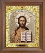 Спаситель. Икона в деревянной рамке с окладом (Д-26псо-16)