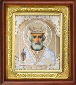 Николай Чудотворец, икона в деревянной рамке (Д-16пс-29)