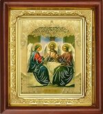 Троица, икона в деревянной рамке (Д-16пс-60)