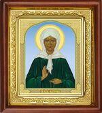 Матрона Московская, икона в деревянной рамке (Д-16пс-40)