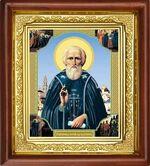 Сергий Радонежский, икона в деревянной рамке (Д-16пс-56)