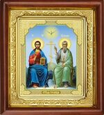 Троица, икона в деревянной рамке (Д-16пс-61)