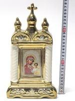 Казанская Б.М., керамика, икона большая купола, крест, цвет золото (СА).