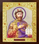 Ярослав Мудрый. Икона в окладе средняя (Д-21-163)