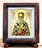Григорий Богослов, Икона Византикос, полуоклад, 8Х6