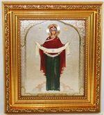 Покров  Б.М. Икона в багетной рамке 14 Х 16