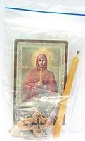 Татиана. Святая мученица. Набор для домашней молитвы (Zip-Lock). Лик, молитва, свечка, ладан, крестик