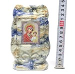 Казанская Б.М., керамика, икона малая, цвет светлая глазурь (СА).