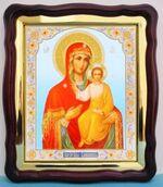 Смоленская Б.М., в фигурном киоте, с багетом. Большая аналойная икона (28 Х 32)