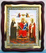 Экономисса Б.М., в фигурном киоте, с багетом. Храмовая икона (43 Х 50)