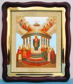 Семистолпная Б.М., в фигурном киоте, с багетом. Храмовая икона (43 Х 50)