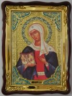 Калужская Б.М., в фигурном киоте, с багетом. Храмовая икона (60 Х 80)