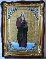Апостол Иоанн Богослов, в фигурном киоте, с багетом. Храмовая икона (60 Х 80)