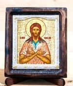Алексий, человек Божий, Икона Византикос, полуоклад, 8Х6