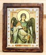 Архистратиг Михаил, Икона Византикос, полуоклад, 12Х14