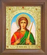 Ангел Хранитель. Икона в деревянной рамке с окладом (Д-25псо-02)