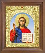 Спаситель. Икона в деревянной рамке с окладом (Д-26псо-20)