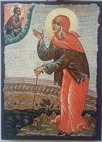Ксения Петербургская, икона под старину JERUSALEM прямая (13 Х 17)