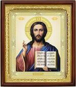 Спаситель,икона в деревянной рамке (Д-18пс-22)