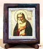 Серафим Саровский (пояс), Икона Византикос, полуоклад, 8Х6