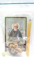 Сергий Радонежский. Преподобный. Набор для домашней молитвы (Zip-Lock). Лик, молитва, свечка, ладан, крестик