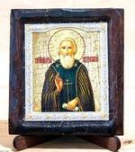 Сергий Радонежский (пояс), Икона Византикос, полуоклад, 8Х6