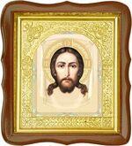 Спас Нерукотворный, средняя аналойная икона, фигурный киот (Д-17фс-24)