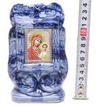 Казанская Б.М., керамика, икона малая, цвет тёмная глазурь (СА).