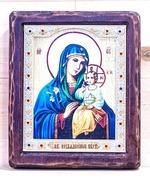Неувядаемый цвет Б.М., Икона Византикос, полуоклад, 12Х14