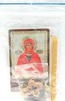 Анастасия Узорешительница. Святая великомученица. Набор для домашней молитвы (Zip-Lock). Лик, молитва, свечка, ладан, крестик