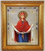Покров Б.М. Икона в багетной рамке 19 Х 22