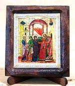 Сретение Господне, Икона Византикос, полуоклад, 8Х6