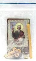 Андрей Первозванный, Святой апостол. Набор для домашней молитвы (Zip-Lock). Лик, молитва, свечка, ладан, крестик