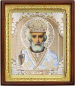 Николай Чудотворец, икона в деревянной рамке (Д-18пс-29)