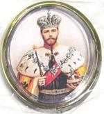 Царь Николай. Икона автомобильная овал