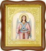 Ангел Хранитель, средняя аналойная икона, фигурный киот (Д-17фс-03)