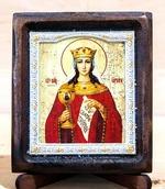 Варвара Св.Муч., Икона Византикос, полуоклад, 8Х6