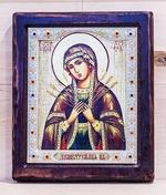 Семистрельная Б.М., Икона Византикос, полуоклад, 12Х14
