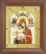Достойно Есть Б.М. Икона в деревянной рамке с окладом (Д-25псо-33)