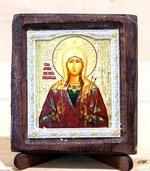 Виктория Св.Муч., Икона Византикос, полуоклад, 8Х6