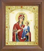 Иверская Б.М. Икона в деревянной рамке с окладом (Д-26псо-34)