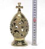 Яйцо среднее, керамика, цвет золото (СА).